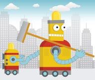 Glücklicher Reinigungs-Roboter Lizenzfreie Stockfotos