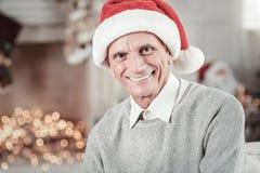Glücklicher Ruhestand, der festliche Stimmung hat Lizenzfreie Stockfotos