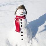 Glücklicher Schneemann Lizenzfreies Stockbild