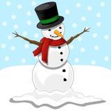 Glücklicher Schneemann vektor abbildung