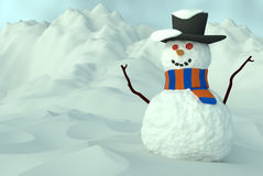 Glücklicher Schneemann 2 Stockbild