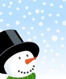 Glücklicher Schneemannweihnachtsvektor Stockfoto