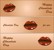 Glücklicher Schokoladentag Auch im corel abgehobenen Betrag Stockfotos