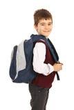 Glücklicher Schulejunge lizenzfreie stockfotos