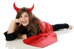 Glücklicher Sie-Teufel Stockfoto