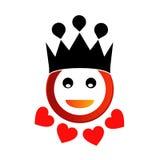 Glücklicher smiley mit Krone stock abbildung