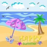 Glücklicher Sommer vektor abbildung