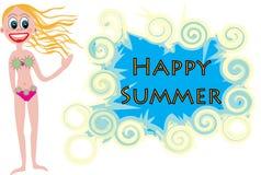 Glücklicher Sommer Stockbild