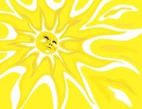 Glücklicher Sonnenschein-Hintergrund Stockbild