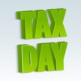 Glücklicher Steuer-Tag Stockfoto