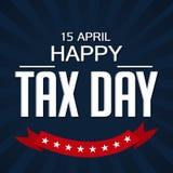 Glücklicher Steuer-Tag Stockfotografie