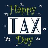 Glücklicher Steuer-Tag Lizenzfreie Stockfotografie