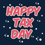 Glücklicher Steuer-Tag Stockbild