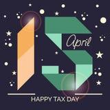 Glücklicher Steuer-Tag Lizenzfreies Stockfoto