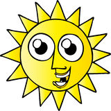 Glücklicher Sun Lizenzfreies Stockbild