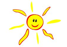 Glücklicher Sun Stockfoto
