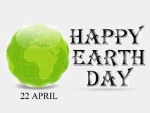 Glücklicher Tag der Erde Lizenzfreies Stockfoto