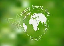 Glücklicher Tag der Erde-Hintergrund Auch im corel abgehobenen Betrag Lizenzfreies Stockbild