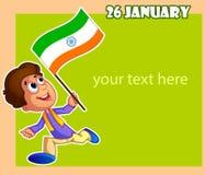 Glücklicher Tag der Republik von Indien Stockfotografie