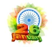 Glücklicher Tag der Republik von Indien Lizenzfreies Stockfoto