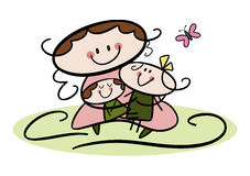 Glücklicher Tag des Mutter! Stockbilder