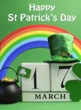 Glücklicher Tag St. Patricks für 17. März Stockbild
