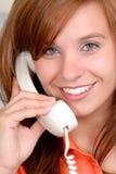 Glücklicher Telefon-Aufruf Lizenzfreie Stockbilder