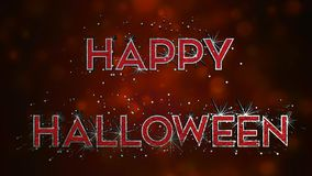 Glücklicher Text-Effekt Halloweens 3D - Metall und Blut stockbilder