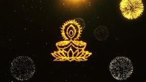 Glücklicher Text-Gruß Diwali Dipawali, Wünsche, Feier, Einladung Hintergrund 18 stock abbildung