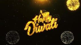 Glücklicher Text-Gruß Diwali Dipawali, Wünsche, Feier, Einladung Hintergrund 19 stock abbildung