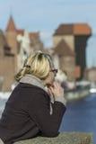 Glücklicher Tourist Lizenzfreies Stockbild