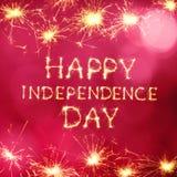 Glücklicher Unabhängigkeitstag Lizenzfreies Stockfoto