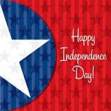 Glücklicher Unabhängigkeitstag! Vektor Abbildung