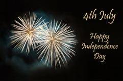 Glücklicher Unabhängigkeitstag stockfoto
