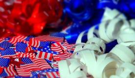 Glücklicher Unabhängigkeitstag, Feier, Patriotismus und Feiertagskonzept Lizenzfreies Stockbild