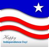 Glücklicher Unabhängigkeitstag - Karte Stockbild