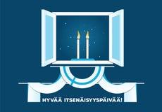 Glücklicher Unabhängigkeitstag von Finnland Lizenzfreies Stockbild