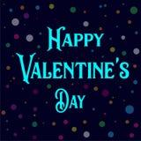 Glücklicher Valentine Day Vector Image Design lizenzfreie abbildung