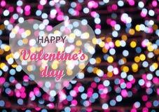 Glücklicher Valentinsgruß `s Tag Stockfotografie