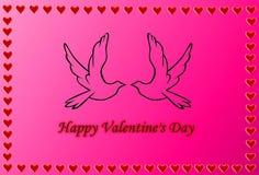 Glücklicher Valentinsgruß `s Tag Stockbild