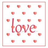 Glücklicher Valentinsgruß `s Tag Auch im corel abgehobenen Betrag Freie Abgaben-Bilder Stockfotos