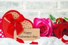 Glücklicher Valentinsgruß `s Tag Liebe lizenzfreie stockbilder