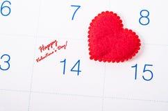 Glücklicher Valentinsgruß ` s Tag mit rotem Herzen Lizenzfreies Stockfoto