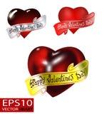 Glücklicher Valentinsgruß `s Tag VektorBriefgestaltung Stockfotografie