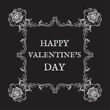 Glücklicher Valentinsgruß `s Tag Weinlese, Retrostil Lizenzfreie Stockfotos