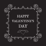 Glücklicher Valentinsgruß `s Tag Weinlese, Retrostil Postkarte für invita Stockfotografie