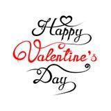Glücklicher Valentinsgruß ` s Tageshandzeichnungs-Hintergrund Stockfotos