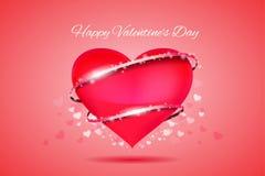 Glücklicher Valentinsgruß ` s Tagesreizendes Band Stockfoto