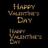Glücklicher Valentinsgruß ` s Tagestext Stockfotografie