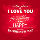 Glücklicher Valentinsgruß-Tageshintergrund. Stockfotografie
